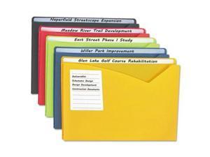 C-Line Write-On Expanding Poly File Folders
