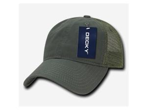 Decky 120-OLV Relaxed Trucker Caps - Olive
