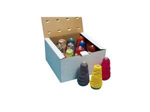 Pacon 402013 Sax Economy Novely Yarn Assortment, Dispenser Box, Assorted Color, 4 oz - Pack of 16
