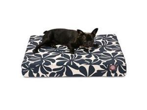 Majestic Pet 78899551413 Navy Blue Plantation Medium Orthopedic Memory Foam Rectangle Dog Bed