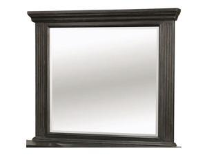 Roisin Transitional Style Mirror, Wire Brushed Black