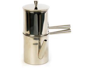 ILSA V135-1 Neapolitan Coffee Maker Stainless Steel, Silver
