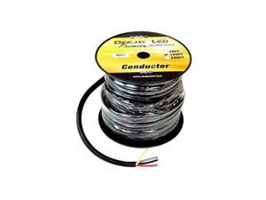 Deejay LED TBH104C100 100 ft. 4 - Conductor 10 Gauge Stranded Cable with Single Black Jacket Ideal for speakers & power