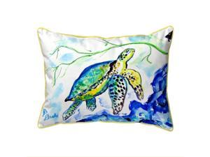 Betsy Drake HJ833 16 x 20 in. Yellow Sea Turtle Large Pillow