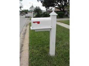 Special Lite Products SCB-2005-WH Hummingbird Curbside Mailbox with Paper Tube, White