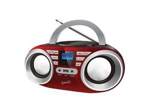 Supersonic SC-506-RED Portable MP3 & CDPlayer Audio System, Red