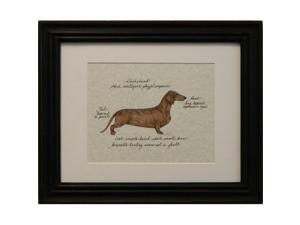 Clapper Hollow HC34 Dachshund Red Framed Print