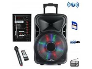 Befree Sound BFS-4400 12 in Bluetooth Rechargeable Party Speaker with Illuminatiing Light
