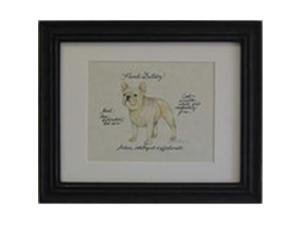Clapper Hollow HC44 French Bulldog Framed Print