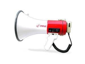 Pyle USA TW9817 Megaphone Bullhorn with USB Flash Drive & SD Memory Card Readers, Aux Input Connector Jack, Built-in Rechargeable Battery, Siren Mode