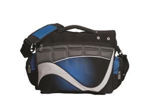 Debco P7421 Laptop Brief - Black / Royal Blue with Grey Accents  - 6 Pack