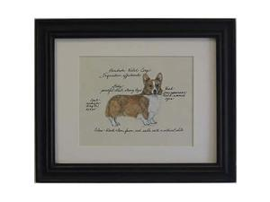 Clapper Hollow HC77 Corgi Blen Framed Print