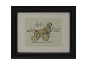 Clapper Hollow HC31 Cocker Spaniel Framed Print