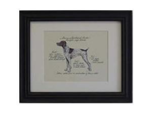 Clapper Hollow HC46 German Shorthair Framed Print