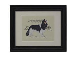 Clapper Hollow HC21 Cavalier King Charles Tri Framed Print