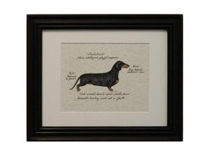 Clapper Hollow HC33 Dachshund  Black and Tan Framed Print