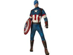 Rubies Costumes 242413 Avengers 2 - Age of Ultron Captain America Deluxe Adult Costume