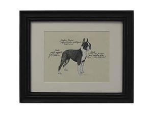 Clapper Hollow HC14 Boston Terrier Framed Print
