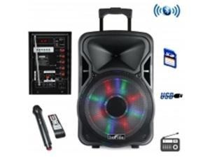 Befree Sound BFS-5800 15 in. Bluetooth Rechargeable Party Speaker with Illuminatiing Light