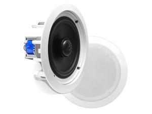 Pyle USA T51447 6.5 in. 70V Two-Way In-Ceiling Speaker System with Transformer, White - Pair