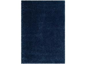 Safavieh SG151-7070-5 5 ft.-3 in. x 7 ft.-6 in. Shag Power Loomed Small Rectangle Area Rug, Navy
