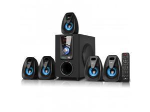 beFree Sound BFS-400 5.1 Channel Bluetooth Surround Sound Speaker System - Blue