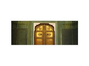 Panoramic Images PPI94751L Close-up of a closed door of a palace  Jaipur City Palace  Jaipur  Rajasthan  India Poster Print by Panoramic Images - 36 x 12