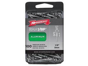 Arrow Fastener 091-RMA.13IP -100-Pc Medium .13 Aluminum Rivet