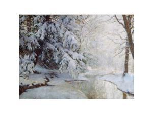 Public Domain Images MET11682 Silent Dawn Poster Print by Walter Launt Palmer, American Albany New York 1854 1932 Albany New York, 18 x 24