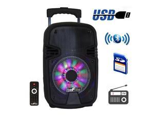 Befree Sound BFS-3000 8 in. Bluetooth Portable Party Speaker with USB, SD & Reactive Lights