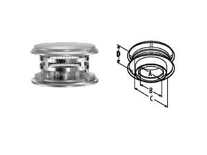 M & G Duravent 8DT-VC 8 Inch  Duratech Rain Cap  Stainless Steel