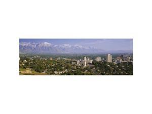 Panoramic Images PPI56320L High angle view of a city  Salt Lake City  Utah  USA Poster Print by Panoramic Images - 36 x 12