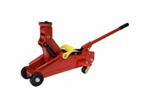 OnlineGymShop CB16448 Mini Red 2 Ton 4000 lbs Hydraulic Floor Jack Lift Tool on Wheels with Case, Red