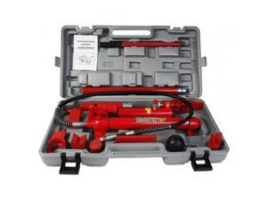 OnlineGymShop CB16621 Power Hydraulic Jack Body Frame Repair Kit Tool Auto Shop 10 Ton Porta - Red
