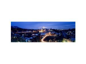 Panoramic Images PPI63328L Night Bern Switzerland Poster Print by Panoramic Images - 36 x 12