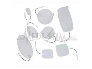 Classic TWF24 Uni - Patch Classic 2 in. X 4 in. Oval, Pigtail Foam Top, Reusable Electrodes With Aloe Vera Gel 4 Per Pkg