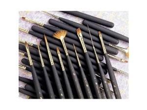 Princeton Brush 3050AS-0 Best Synthetic Sable Miniature Watercolor and Acrylic Mini Brush Angular Shader 0