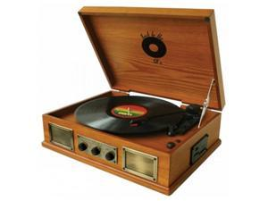 Back To The 50S TB-2917 3 Speed Wooden Turntable
