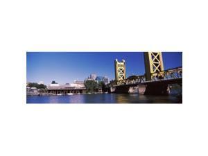 Panoramic Images PPI146932L Tower Bridge  Sacramento  CA  USA Poster Print by Panoramic Images - 36 x 12