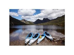Danita Delimont PDDAU01DWA3935 Kayaks Cradle Mountain & Dove Lake Western Tasmania Australia Poster Print by David Wall, 29 x 19