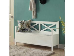 Oxford Storage Bench 203600W White Finish