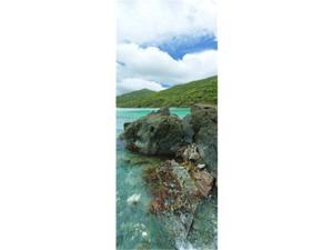 Panoramic Images PPI96452L Rocks in the sea  Jumbie Bay  St John  US Virgin Islands Poster Print by Panoramic Images - 12 x 36