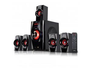 Befree Sound BFS-410 5.1 Channel Surround Sound Bluetooth Speaker System, Red