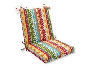 Pillow Perfect 592565 Indoor-Outdoor Cotrell Garden Squared Corners Chair Cushion, Multicolored