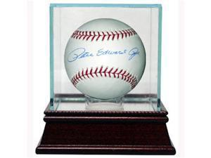 Pete Rose signed MLB Baseball (FullName) w/ Glass Case