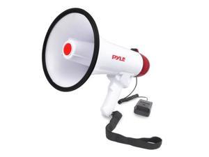 Pyle USA DE6726 Megaphone Speaker, Audio PA System with Wired Microphone, Siren Alarm, Adjustable Volume