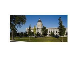 Panoramic Images PPI138444L Garden in front of Utah State Capitol Building  Salt Lake City  Utah  USA Poster Print by Panoramic Images - 36 x 12