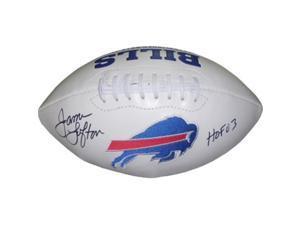 Athlon CTBL-016490 James Lofton Signed Buffalo Bills White Logo Football - HOF 03
