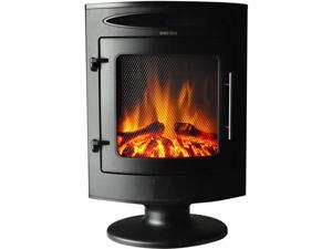 Cambridge CAM20FSEF-1BLK 1500W Freestanding Electric Fireplace Heater with Log Display