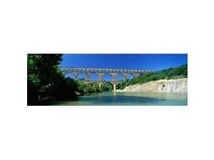 Panoramic Images PPI82415L Pont du Gard Roman Aqueduct Provence France Poster Print by Panoramic Images - 36 x 12